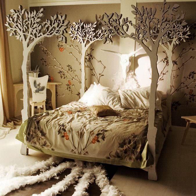 ترکیبی از الگوهای متفاوت-سورئالیسم-دکوراسیون اتاق خواب