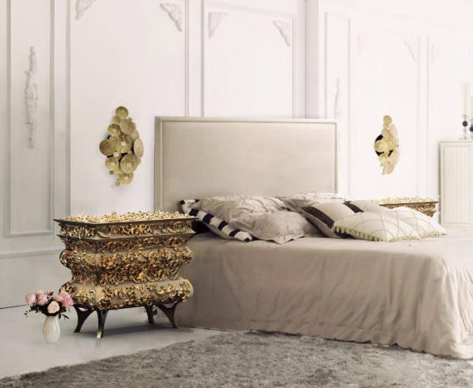 آرامشی خاص با رنگ های طلایی-دکوراسیون اتاق خواب