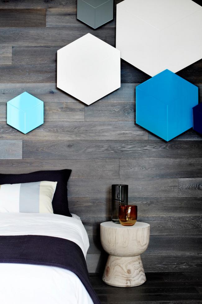 استفاده از اشکال هندسی-دکوراسیون اتاق خواب