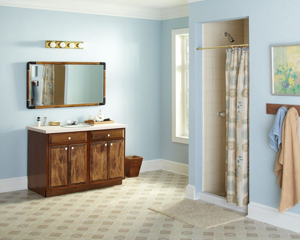 تزئین حوله ها در حمام - ترکیب و تطبیق