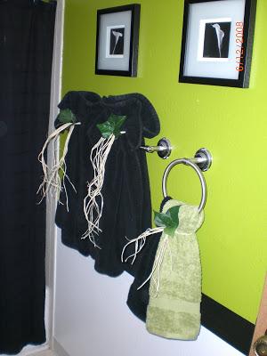 تزئین حوله ها در حمام - ترکیب و تطبیق 3