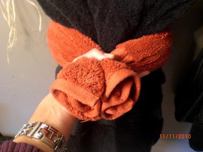تزئین حوله ها در حمام - ترکیب و تطبیق 6